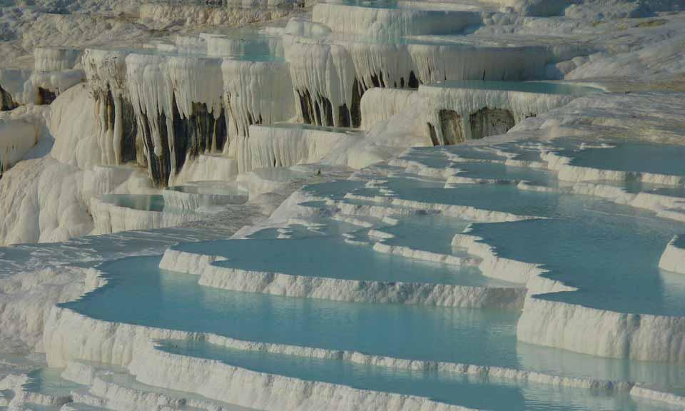 Travertine Pools of Pamukkale, Turkey