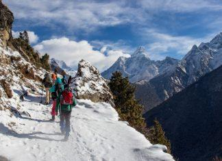 Trekking in Nepal hiking