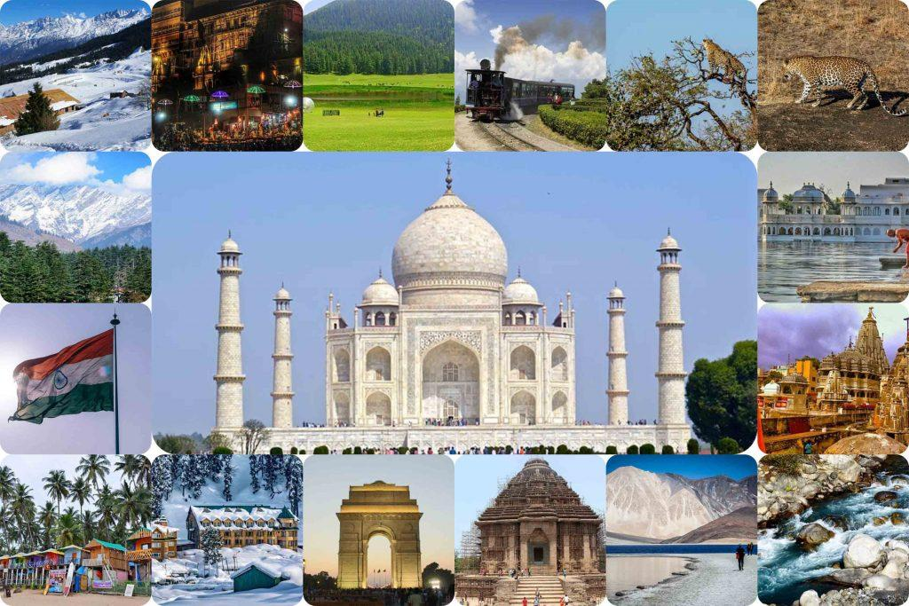 Indian Tourist Places Collage