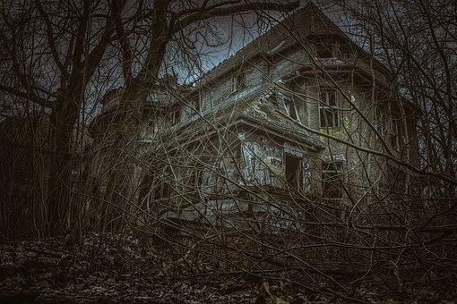 Abandoned Hospital Over the Cemetery