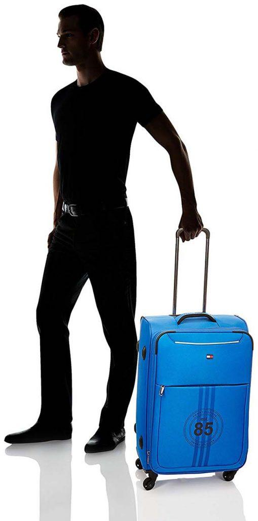 Athens Polyester Blue Soft Sided Carry-On by Tommy Hilfiger