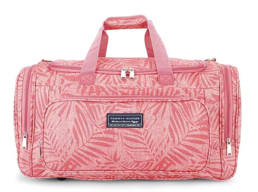 Tommy Hilfiger Travel Duffle Bag Red Sharon Polyester