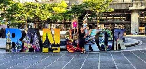 Enjoying in Bangkok