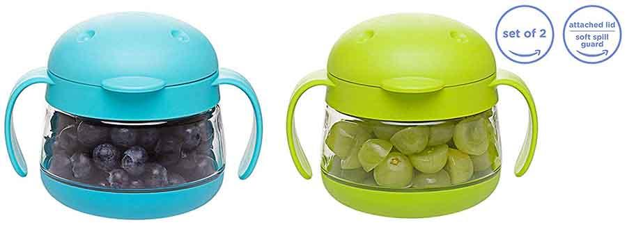 Spill-Proof Snack Container