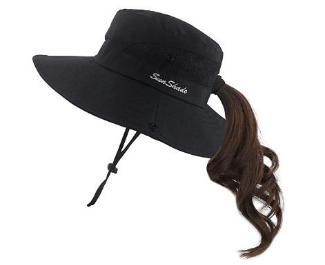 Hiking Hat With Ponytail Hole