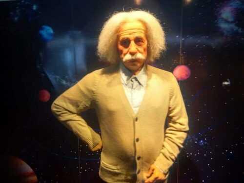 Einstein in Jaipur wax museum