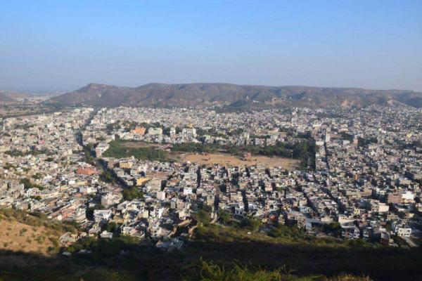 city ​​view from garh ganesh temple