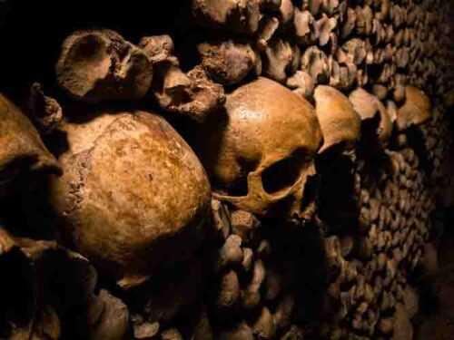 human skeleton in  roopkund skeleton